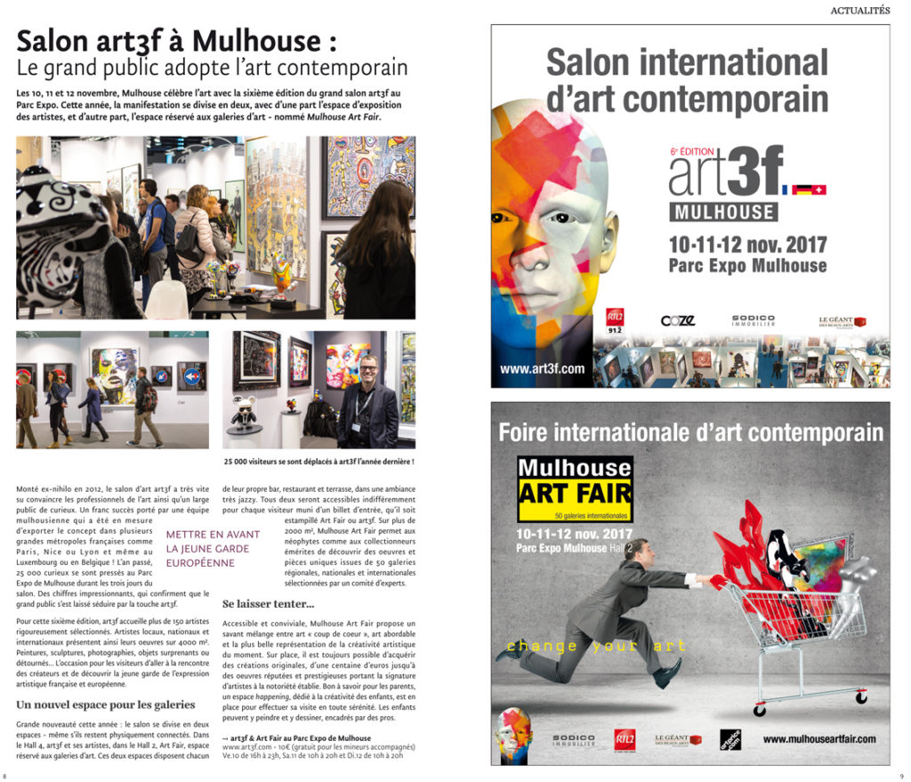 JDS Novembre 2017 art3f et Mulhouse ART FAIR