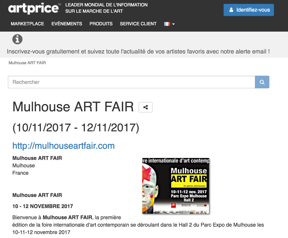 Mulhouse ART FAIR et Artprice